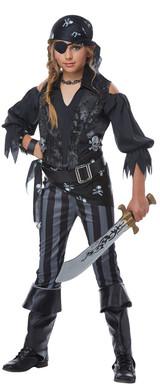 Rebel Pirate Girls Costume back