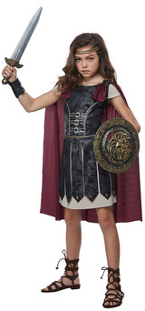 Female Gladiator Girls Costume back