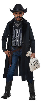 Boys Sheriff Outlaw Costume back