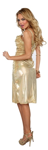 Gold Disco Inferno Dress back
