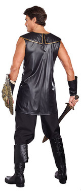 Deadly Warrior Mens Costume back