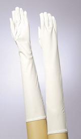 Long White Gloves back