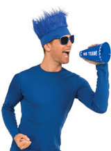 Furry Blue Hat back