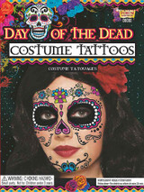 Day Of Dead Face Tattoo back