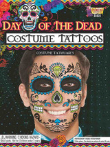 Day Of Dead Face Blue Tattoo back
