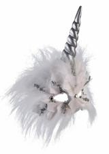 Feathered Unicorn Mask back