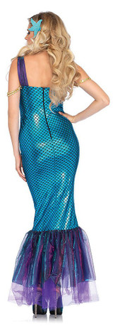 Seashell Mermaid Scale Dress back