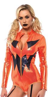 Jack-O-Lantern Garter Bodysuit back
