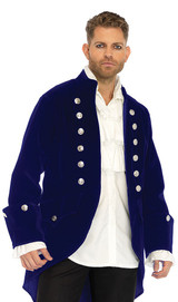 Long Velvet Pirate Beast Coat back