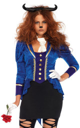 Womens Beautiful Beast Costume back