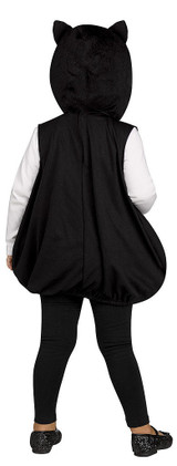 Googly Eye Black Cat Tunic back