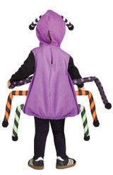 Googly Eye Purple Spider Tunic back