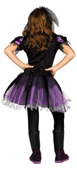 Spider Queen Girl Costume back