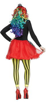 Freakshow Clown Womens Costume back