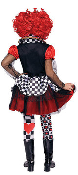 Girls Queen of Hearts Costume back