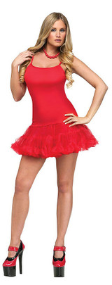 red pettidress for women