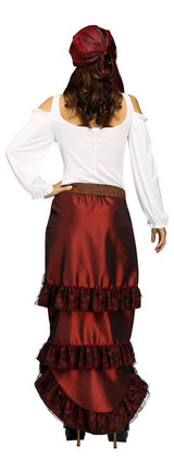 Pirate Queen Womens Costume back