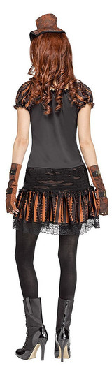 Skele-Punk Womens Costume back