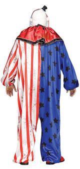 Evil Clown Costume Plus back
