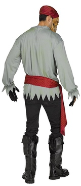 Skeleton Pirate Mens Costume back