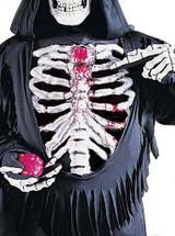 Bleeding Skeleton Boys Costume back