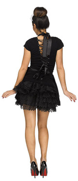 French Maid Apron & Headpiece back