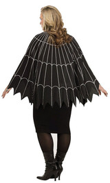 Black/Silver Plus Spiderweb Poncho back
