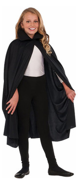 "Collared Black Cape 36"" back"