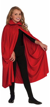 "Collared Red Cape 36"" back"