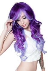 Triflect Purple Possession Wig back