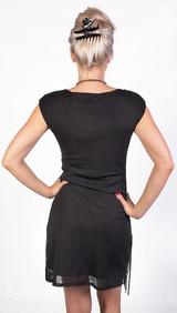 Black Flapper Dress Fringed back