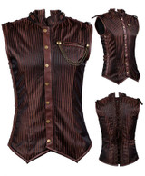 Men Steampunk Vest back