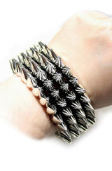 Punk Rock Bracelet Silver back