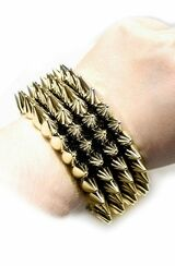Punk Rock Bracelet Gold back