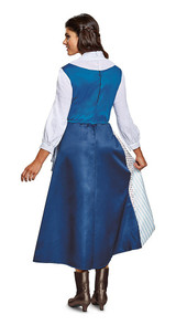 Belle Village Dress Adult Costume back