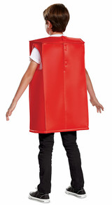 Lego Red Brick Boys Costume back