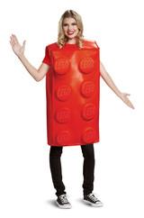 Lego Red Brick Adult Costume back