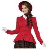 Christmas Holiday Caroler Womens Costume back