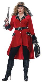 High Seas Pirate Womens Plus Costume back
