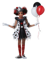Creepy Clown Girls Costume back