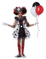 Creepy Clown Girls Costume back