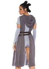 Rey Galaxy Rebel Womens Costume back