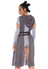 Rey Galaxy Rebel Womens Costume back