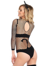 Net Opaque Cat Bodysuit back