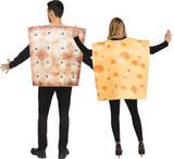Cheese & Cracker Adult Costume back