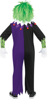Demented Clown Child Costume back