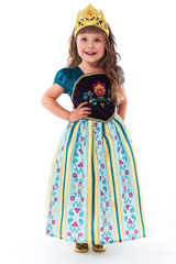 Scandinavian Princess Girl Costume back