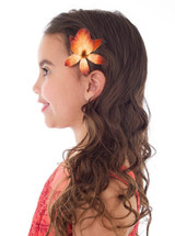 Polynesian Princess Girl Costume with Hair Clip back