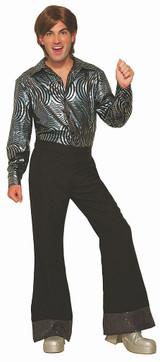 Men Black Disco Pants