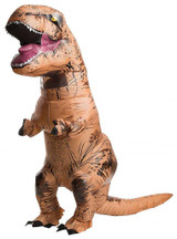 T-Rex with Sound Inflatable Adult Costume back